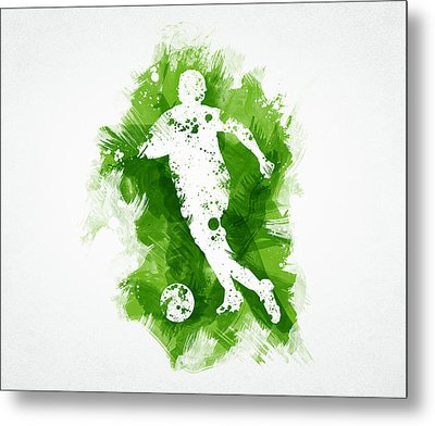 Soccer Player Metal Print