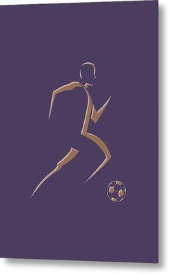 Soccer Player3 Metal Print by Joe Hamilton