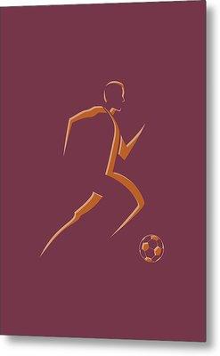Soccer Player4 Metal Print by Joe Hamilton