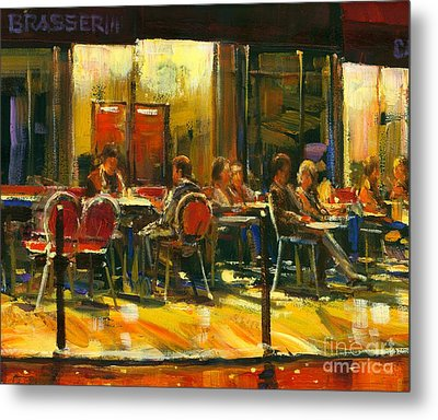 Metal Print featuring the painting Socializing by Michael Swanson
