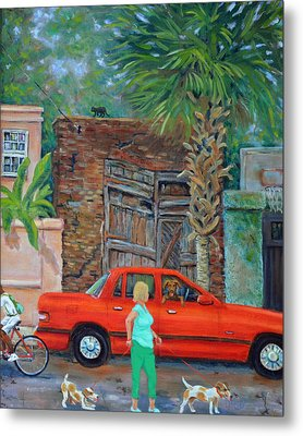 Metal Print featuring the painting Society Street Afternoon by Dwain Ray