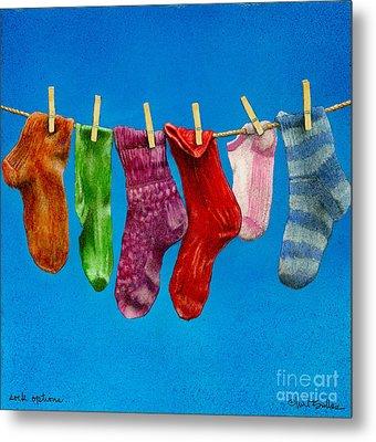 Sock Options... Metal Print