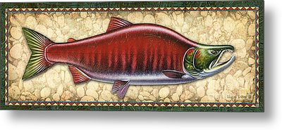 Sockeye Salmon Spawning Panel Metal Print by JQ Licensing