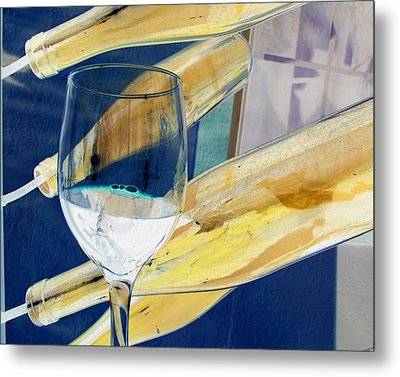 Metal Print featuring the photograph Soda Or Wine Is Fine by Marie Neder