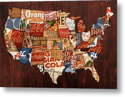 Soda Pop America Metal Print by Design Turnpike