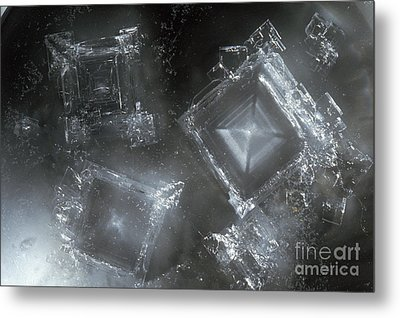 Sodium Hydroxide Crystals Metal Print by Charles D Winters