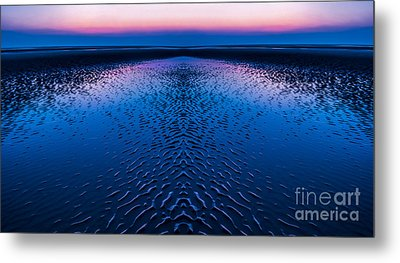 Soft And Blue Metal Print by Adrian Evans