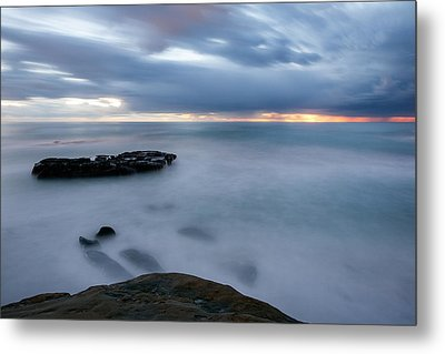 Soft And Blue Metal Print by Peter Tellone