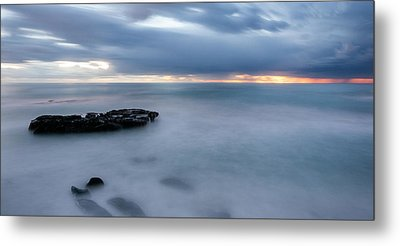Soft Blue And Wide Metal Print by Peter Tellone