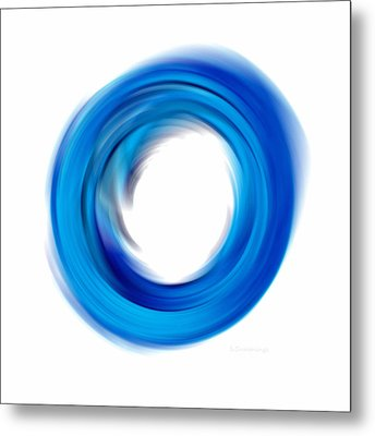 Soft Blue Enso - Abstract Art By Sharon Cummings Metal Print by Sharon Cummings