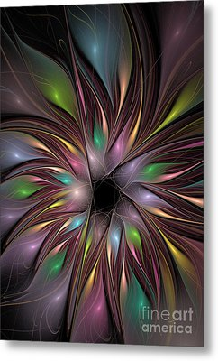Soft Colors Of The Rainbow Metal Print