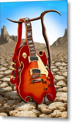 Soft Guitar Metal Print by Mike McGlothlen