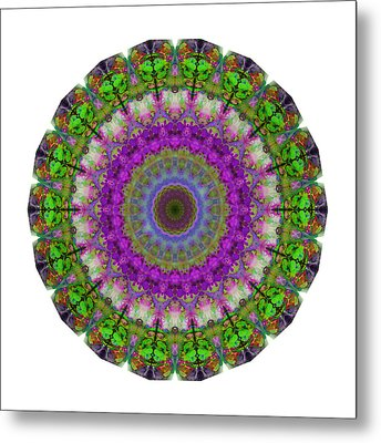 Soft Light - Kaleidoscope Mandala By Sharon Cummings Metal Print by Sharon Cummings