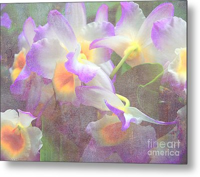 Soft Subtle Orchids Metal Print by Gena Weiser