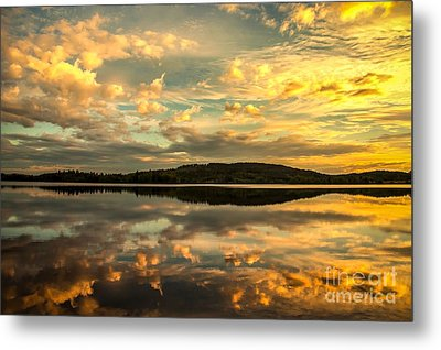 Metal Print featuring the photograph Soft Sunset by Rose-Maries Pictures