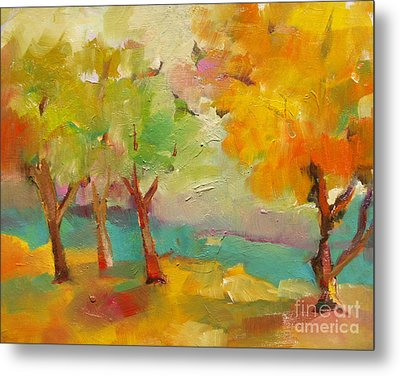 Soft Trees Metal Print