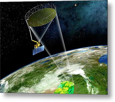 Soil Moisture Active Passive Satellite Metal Print by Nasa/jpl-caltech