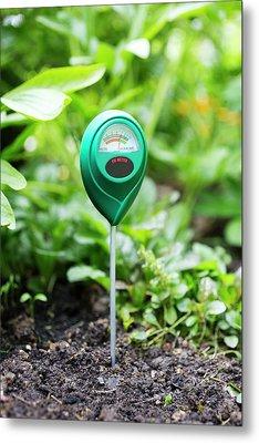 Soil Ph Meter Metal Print