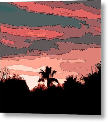 Metal Print featuring the digital art Solana Beach Sunset 1 by Kirt Tisdale