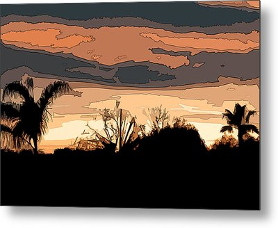 Metal Print featuring the digital art Solana Beach Sunset 2 by Kirt Tisdale