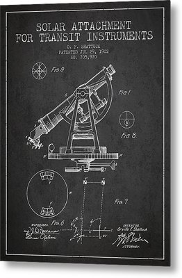 Solar Attachement For Transit Instruments Patent From 1902 - Cha Metal Print