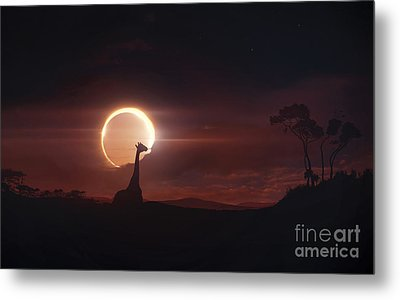 Solar Eclipse Over Africa Metal Print