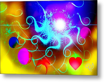 Metal Print featuring the digital art Solar Event by Ute Posegga-Rudel