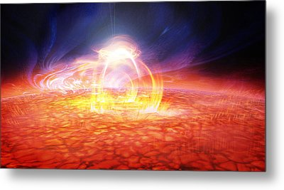 Solar Flare Metal Print by Don Dixon