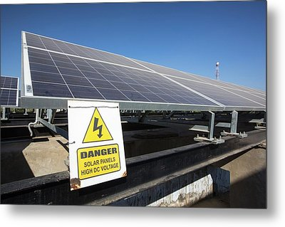 Solar Panels Providing Electricity Metal Print by Ashley Cooper