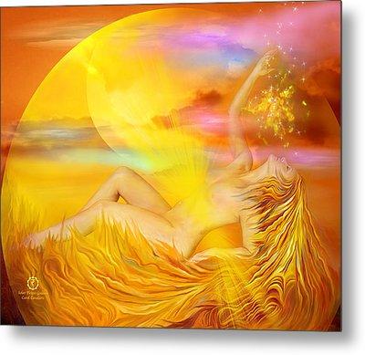 Solar Plexus Goddess Metal Print by Carol Cavalaris