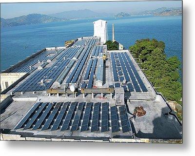 Solar Power At Alcatraz Metal Print