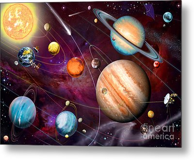 Solar System 2 Metal Print by Garry Walton
