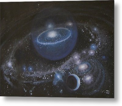 Metal Print featuring the painting Solar System by Min Zou
