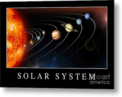 Solar System Poster Metal Print by Stocktrek Images