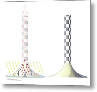 Solar Updraft Tower Metal Print by Gary Hincks