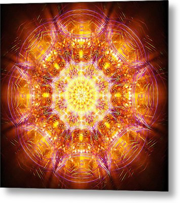Metal Print featuring the painting Solarene by Jalai Lama