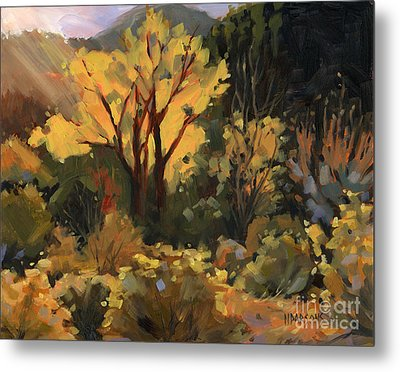 Metal Print featuring the painting Sold- All That Glitters by Nancy  Parsons