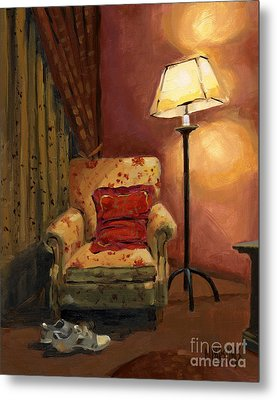 Metal Print featuring the painting Sold - And Sit Right Down by Nancy  Parsons