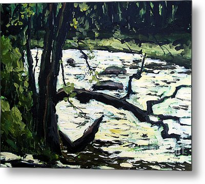 Sold Eel River From The Sandbar Metal Print by Charlie Spear