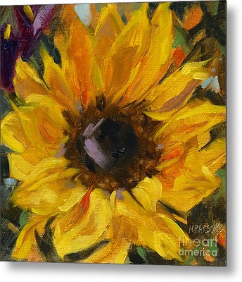 Metal Print featuring the painting Sold Flower Power by Nancy  Parsons