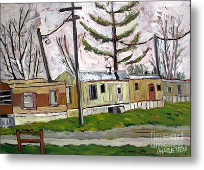 Sold Rainy Day Trailers Metal Print by Charlie Spear