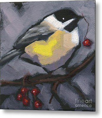 Metal Print featuring the painting Sold Thanks-giving Bird by Nancy  Parsons