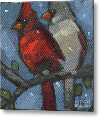 Metal Print featuring the painting Sold We Are Family by Nancy  Parsons