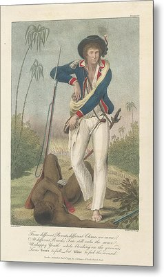 Soldier And A Dead Native Metal Print by British Library