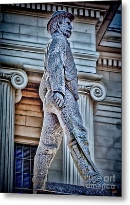 Soldier Statue Hdr Alabama State Capitol Metal Print by Lesa Fine