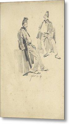 Soldier With Arm In Sling, Pieter Van Loon Metal Print