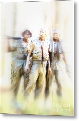 Soldiers On The Lookout Metal Print by Angelia Hodges Clay