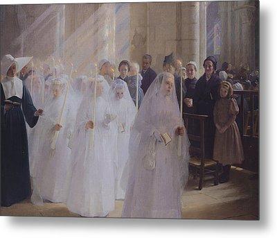 Solemn Communion Metal Print by Jules Triquet