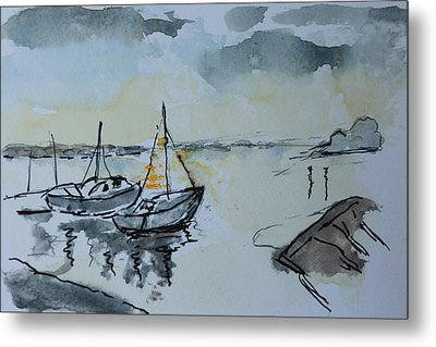 Solemn Wreck. Justin Metal Print by Rosemary Colyer