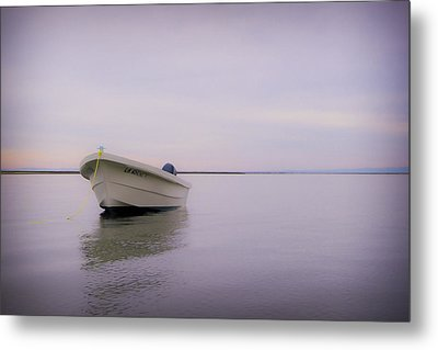 Solitary Boat Metal Print by Adam Romanowicz